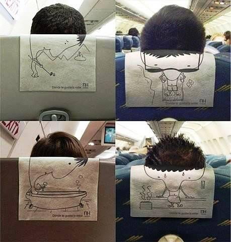 Творчество на борту самолета:)