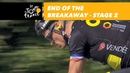 End of the breakaway Stage 2 Tour de France 2018