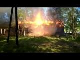 Пожар на пр.Беломорский, 56. Северодвинск.