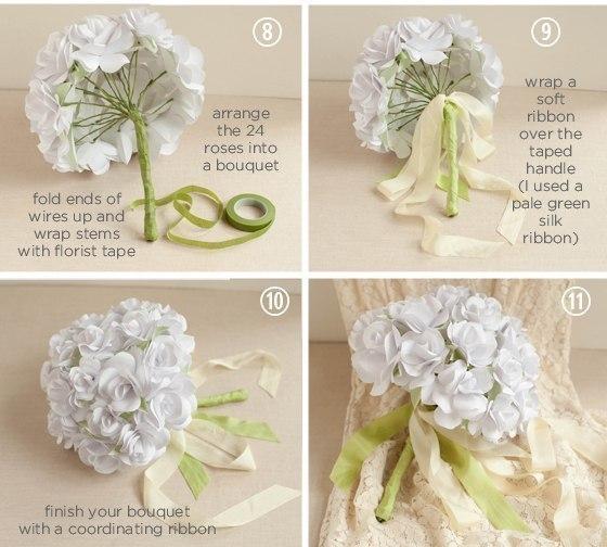 Букет цветов из бумаги своими руками - Поделки