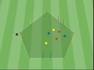 Футбольные упражнения на тактику и перефирийное зрение.