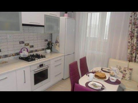 Дизайн белой угловой кухни 10 кв. метров