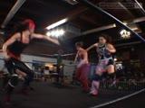 Pretty Bitchin (Ariel Nikki Roxx) vs. The Knight Dynasty (Britani Knight Saraya Knight) (with Rebecca Knox)