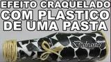 EFEITO CRAQUELE FEITO COM CAPA DE APOSTILA