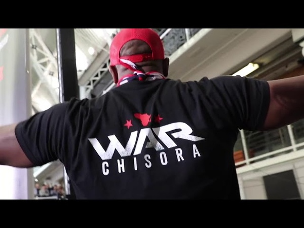 CARNAGE! DEREK CHISORA KICKS OFF GOES ON RAMPAGE AFTER WEIGH IN : GOES FOR DILLIAN WHYTE'S BROTHER