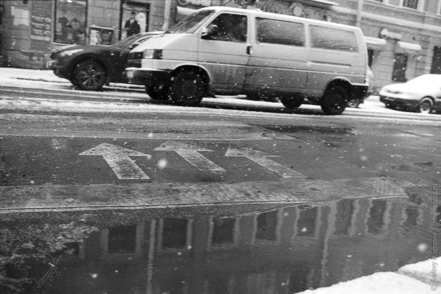 Снег в апреле в Санкт-Петербург