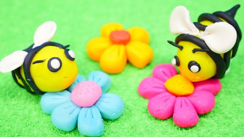 Spielspaß mit PlayDoh Wir machen eine Biene Video für Kinder
