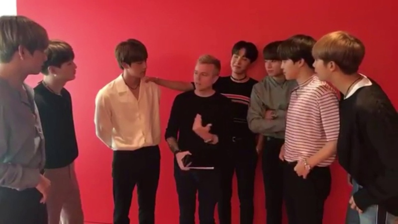 BTS (방탄소년단) Jin Addresses The Infamous Third Guy From The Left On KIIS FM Interview