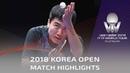 Liang Jingkun vs Lin Gaoyuan 2018 Korea Open Highlights 1 2
