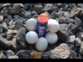 Взрыв куриных яиц корсаром 12