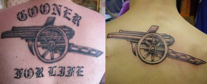 Татуировки болельщиков арсенал лондон