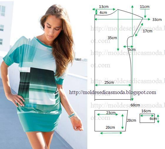 Легкий трикотаж сшить платье 763