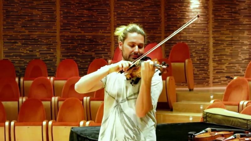 DAVID GARRETT at Museo del Violino in Cremona trying different violins_ which co