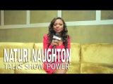 Naturi Naughton on the set of 50 Cent's New Show POWER on STARZ