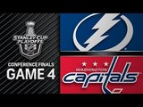 NHL 18 PS4. 2018 STANLEY CUP PLAYOFFS EAST FINAL GAME 4 LIGHTNING VS CAPITALS. 05.17.2018. (NBCSN) !