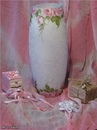 Декор стеклянной вазочки