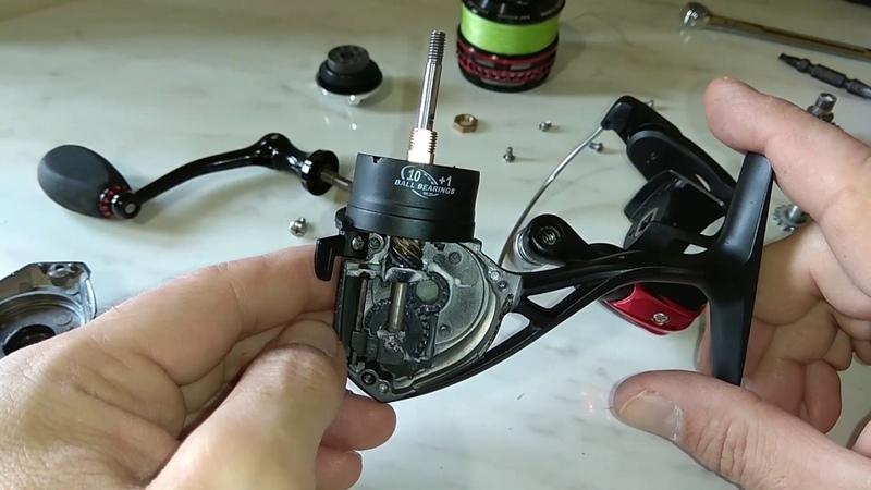 Разборка рыболовной катушки seaknight axe2000H
