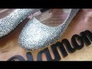 балетки инкрустированны стразами Люкс от мастера инкрустации Елизавета Кюрчева LizaDiamondUa