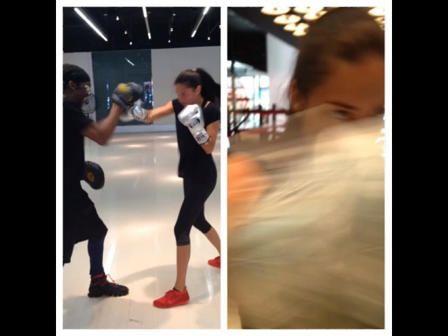 Here's lavagirl @adrianalima tuning up for the