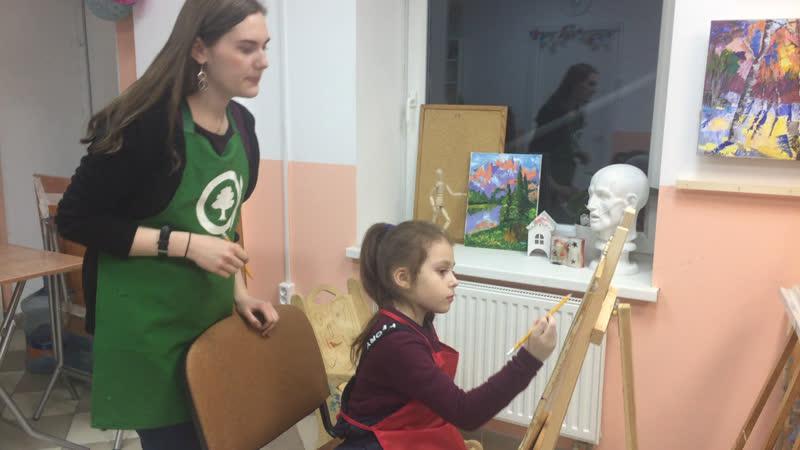 Студия на Яхтенной☝🏻🎨 группа 7-11 лет. Педагог: Ирина Киселева 🌸🌿