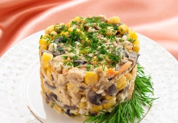 Салат с кукурузой и