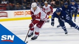 Red Wings' Dylan Larkin Puts Beautiful Finish On Overtime Goal Against Maple Leafs