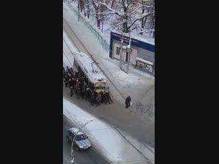 Саратовцы о застрявшем на Большой Горной трамвае_ Достойно Оскара!