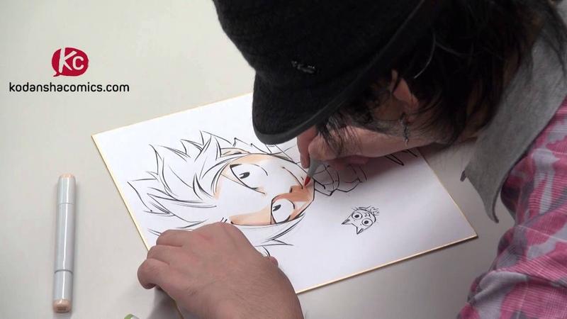 Watch Hiro Mashima draw Fairy Tail (Short Version)