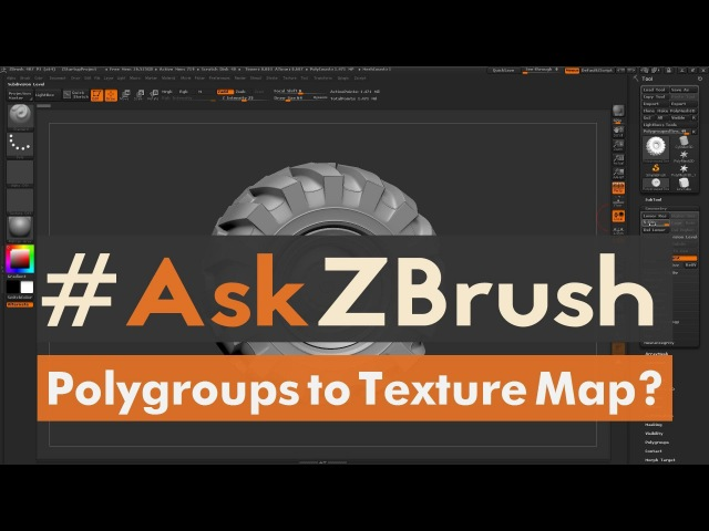 "AskZBrush: ""How can I generate a Color ID map from Polygroups?"""