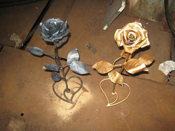 Цветок из металла своими руками фото