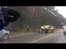 жёсткая авария автобус и такси