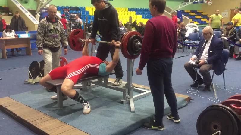 Жим лёжа 150 кг Соревнования в г Черкассы ноябрь 2018