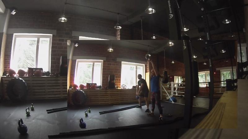 Тренировка дня : канат и махи