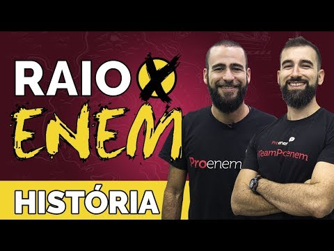 Raio X ENEM Os temas mais cobrados de História - Prof. Marcelo Lameirão e Otto Barreto