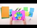 Как сделать цветущую 3D-открытку