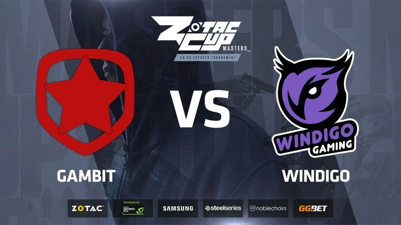 Gambit vs Windigo, map 2 overpass, ZOTAC Cup Masters 2018 Europe Finals