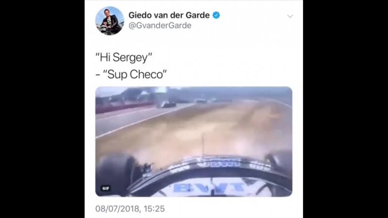 Perez Sirotkin British GP 2018