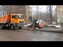 Уборка снега ул Комсомольская, г Красноармейск 12 03 2015 год