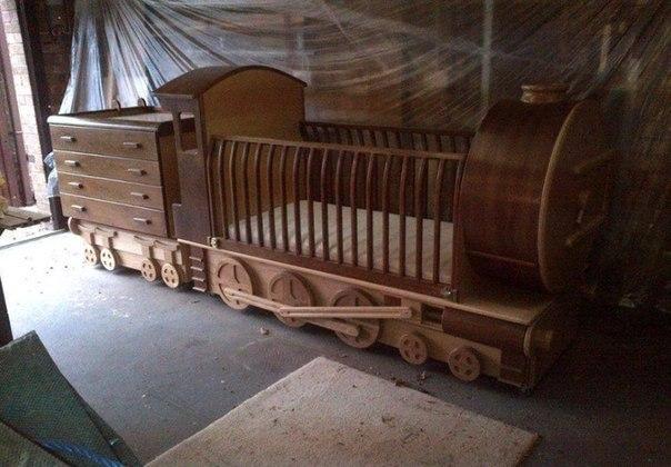 Необычная детская кроватка (1 фото) - картинка