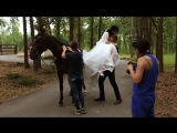 Свадебная фотосессия с животными(репортаж)