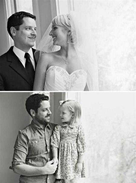 Американец Бен Нуннери почтил память скончавшейся от рака супруги самым трогательном образом — вместе с маленькой дочерью они воссоздали свадебные фотографии пары