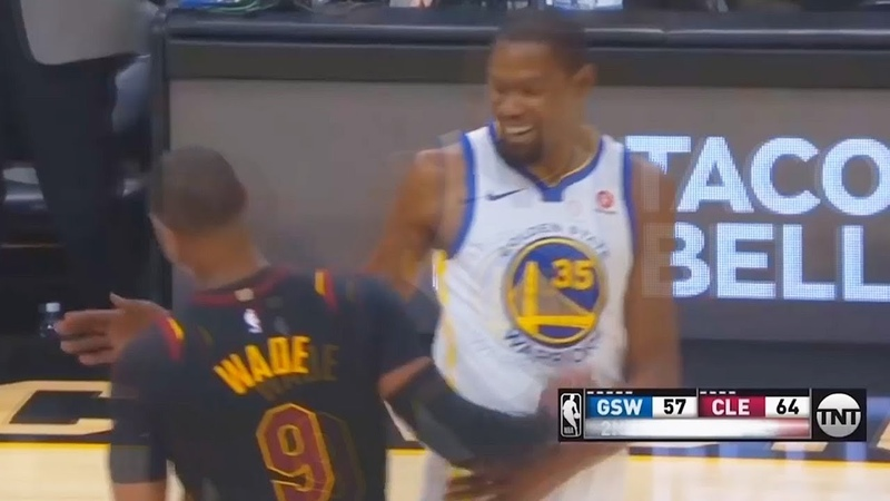 Kevin Durant Gives Dwyane Wade Respect After Fooling Him with Layup but throws Alley Oop Instead