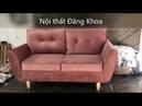 Mẫu ghế sofa văng nỉ cho trung cư mini - văng 1m6 giá 3,1tr tại nội thất Đăng Khoa