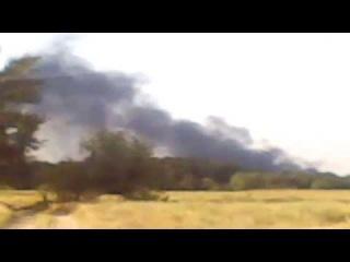 Луганск: п. Новосветловка после удара ракеты точка