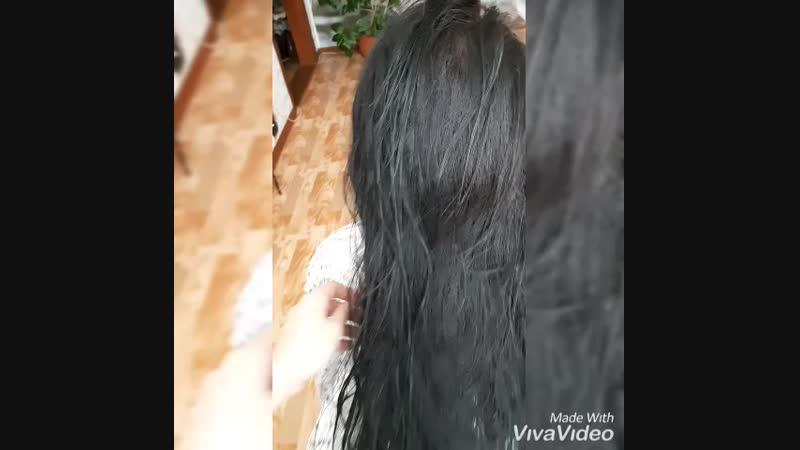 Кератиновое выпрямление волос🌸 До процедуры Состав смыт волосы высушены феном без расчески👍