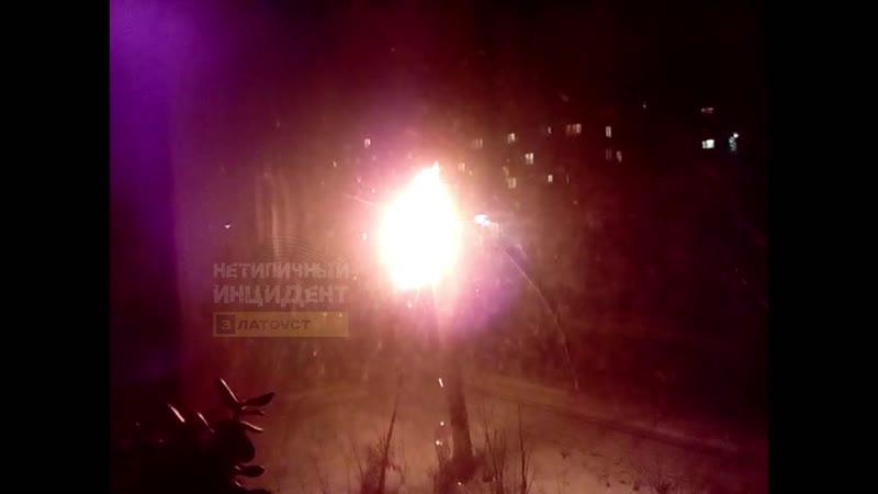 Горит бухта проводов. Златоуст, ул. Румянцева, 6 (22.01.19)