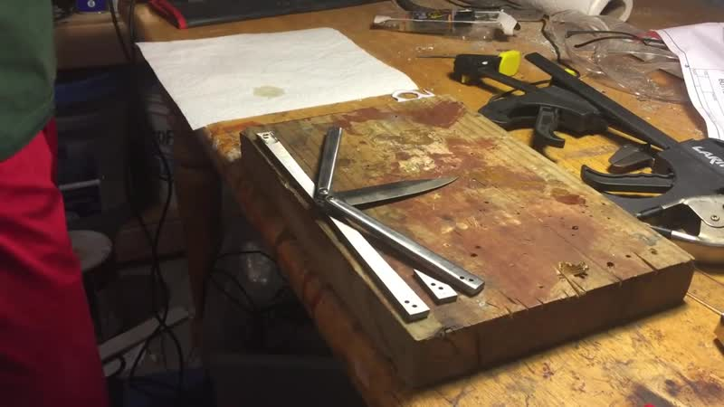 [Zombie Joe Knives] Making A Butterfly Knife From Scratch Using Old Files