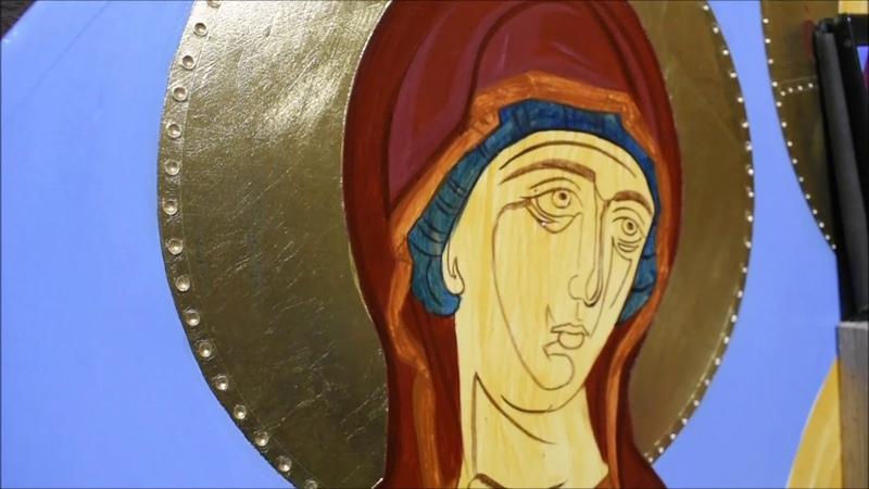 ΑΓΙΟΓΡΑΦΙΑ ΕΞΩΤΕΡΙΚΟΣ ΜΑΝΔΥΑΣ ΤΗΣ ΠΑΝΑΓΙΑΣ ΜΕΡΟΣ 2ο BYZANTINE ICON PAINTING THE MOTHER OF GOD