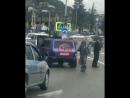Водитель обгорел в Сочи на границе с Абхазией. 31.03.18