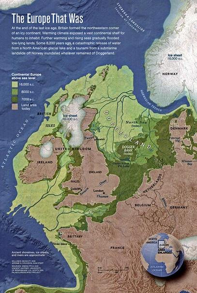 История карты мира Толкина Когда Дж. Толкин создавал свой мир, в котором с течением времени Море затопило значительную часть запада, он в определённом смысле повторил реальную историю Западной